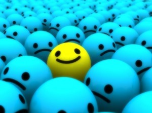 Smile and relax at your job interview. Image of smileys.
