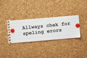 Always Check for spelling errors image - checking your C.V.